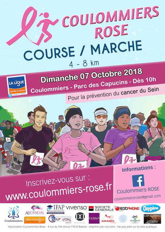 Coulommiers rose Course Marche contre le cancer du sein